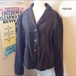 Pendleton Brown Fall Cotton Blend Jacket M